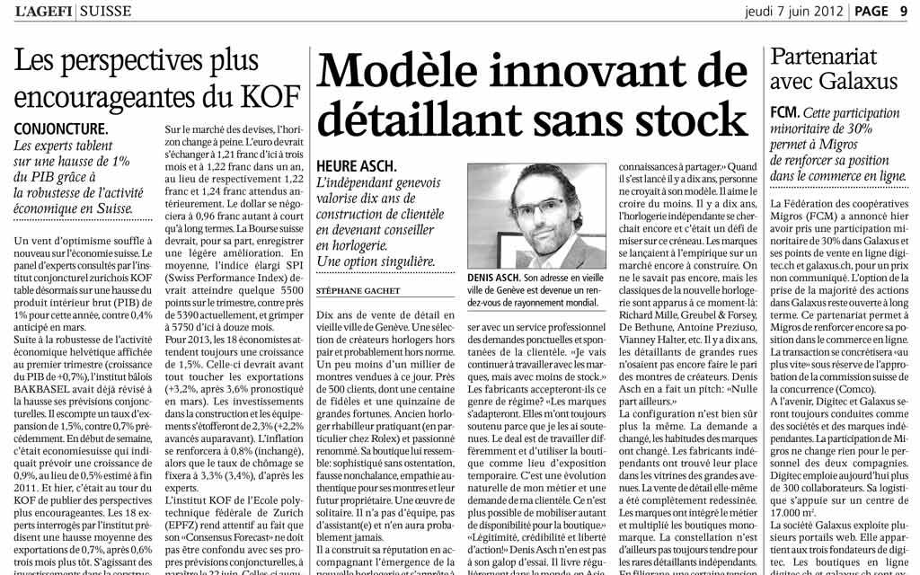 Agefi – Modèle innovant de détaillant sans stock
