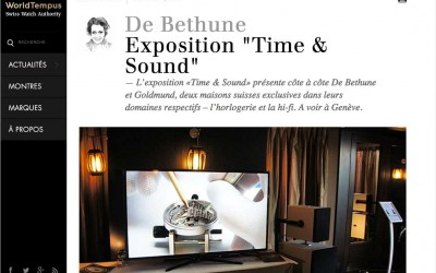 "De Bethune Exposition ""Time & Sound"""